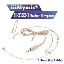 Iiimymic H 21S2 1 3.5mm plug fone de ouvido para sennheiser sem fio corpo pacote transmissor headworned microfone parafuso de bloqueio caixa de plástico