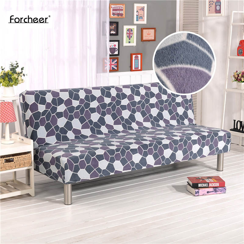 1PC Plush Sofa Cover Wrap All inclusive Slip resistant Elastic Stretch Furniture Slipcovers No Armrest Folding Sofa Bed Cover-in Sofa Cover from Home & Garden    1