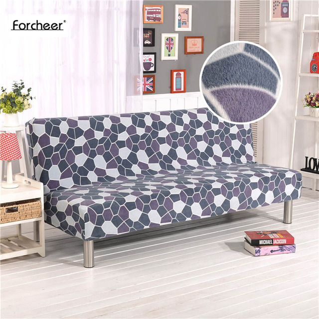 1pc Plush Sofa Cover Wrap All Inclusive Slip Resistant Elastic Stretch Furniture Slipcovers No Armrest Folding Bed