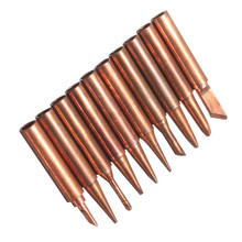 JimBon 10pcs 900M-T Soldering Tip Pure Copper Electric Iron Head Series Solder Tool
