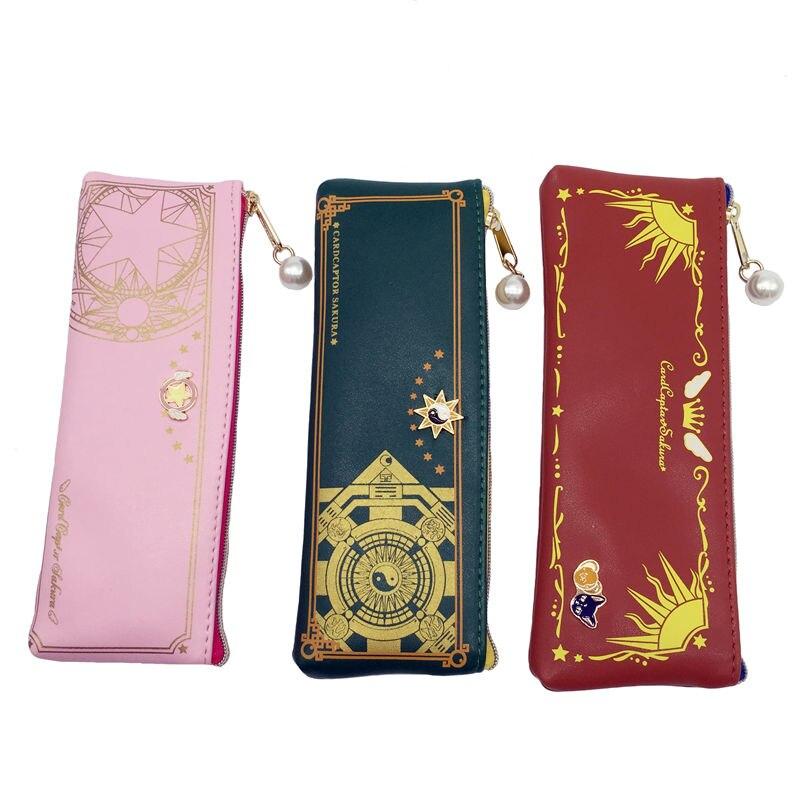 Ainiel anime cardcaptor card captor SAKURA KINOMOTO clear cards pen bag pencil case stationery  wallet cosplay costume