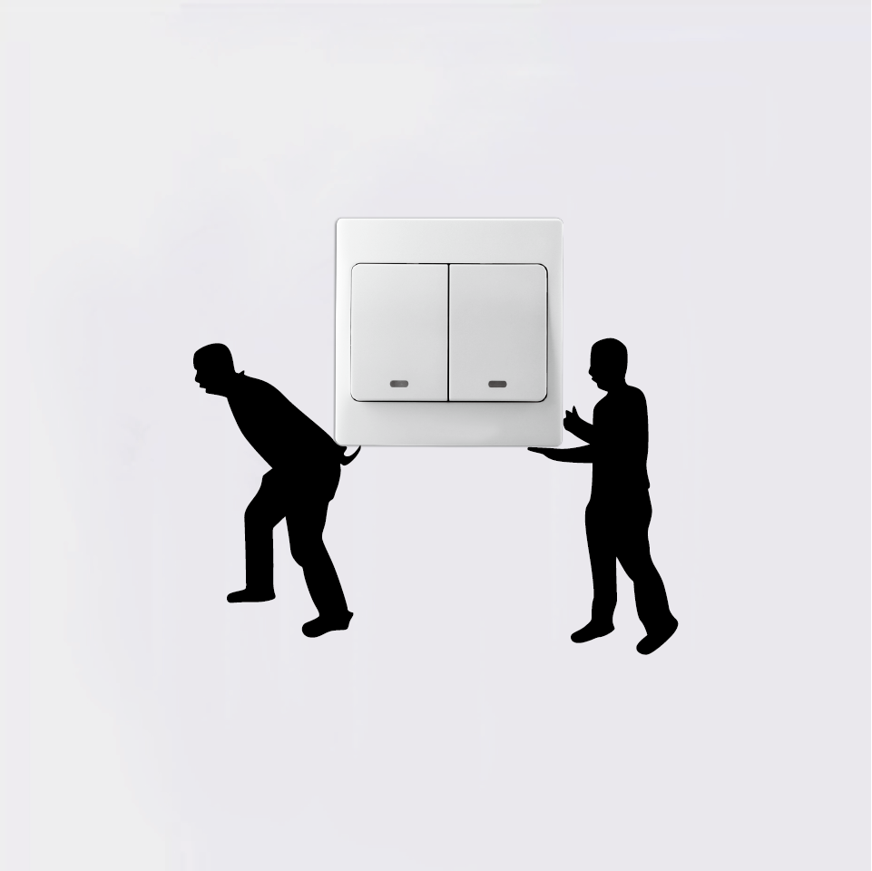 Creative Moving Men Silhouette Switch Sticker Funny Cartoon Vinyl Stiker Lampu Kucing Gantung Aeproductgetsubject