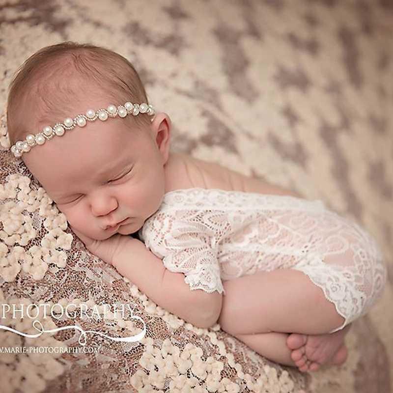 2017 для новорожденных детей кружевной ползунки фотография Опора Одежда для новорожденных мальчиков Фото Опора комбинезоны малышек Винтаж новорожденных