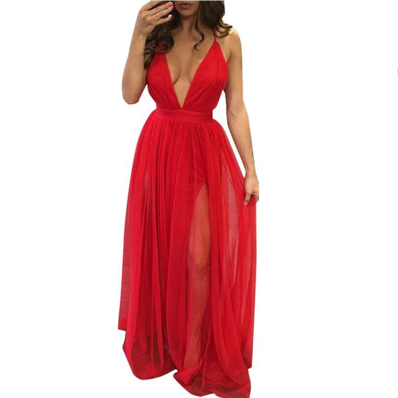 snowshine YLI Women Summer Chiffon Sleeveless Boho Long Maxi Evening Party Beach Dress free shipping