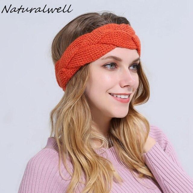 Naturalwell Häkeln Stirnband Muster Frauen Turban Kreuz Kabel