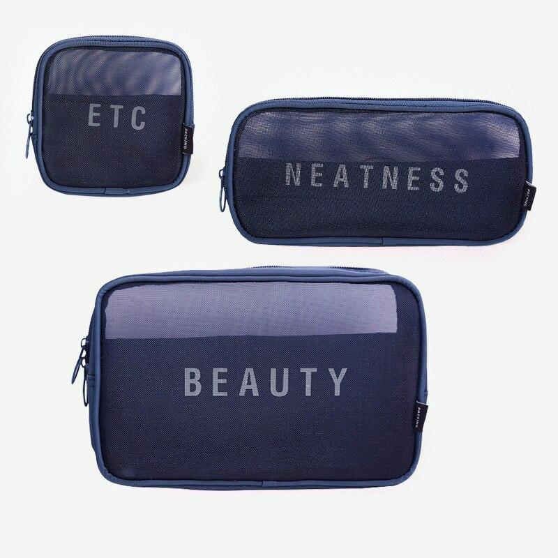 Lavage Cosmétique Dressing Net Boîte Capacité Femmes Pcs De En Voyage Sac Nylon 10 lot Message Hommes Leave Maquillage Stockage Please Grande ETSzWq