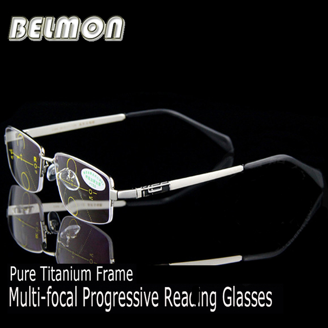 d007516cba Titanium Magnetic Multi-Focal Progressive Reading Glasses Men Diopter Presbyopic  Eyeglasses +1.0+1.5
