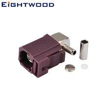 Eightwood Fakra код D Jack Разъем прямоугольный обжимной для RG-174 RG-188 RG-316 LMR-100 кабели автомобиля сотовый телефон gsm