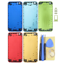 """New Replacement Colorful Housing Back Battery Cover Door Case Parts with buttons For Apple iPhone 6 4.7"""""""