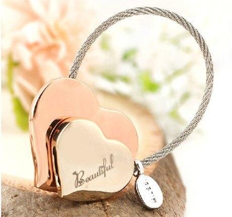 Milesi -Neues Geschenk Marke Herz Schlüsselanhänger Schlüsselbund - Modeschmuck - Foto 2