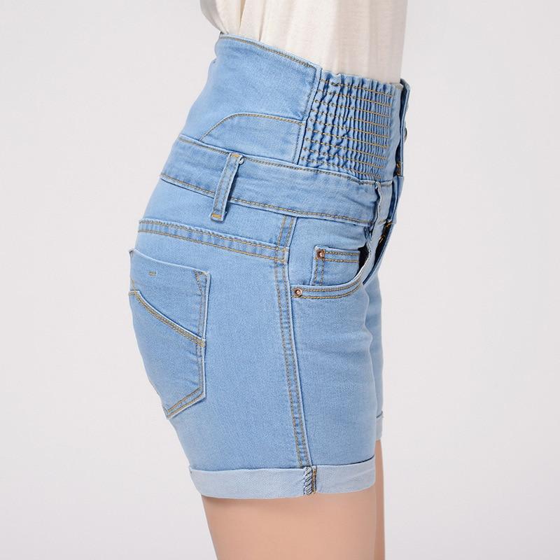 Yaz yeni şort qadınlar jeans düz bel cılız denim - Qadın geyimi - Fotoqrafiya 2