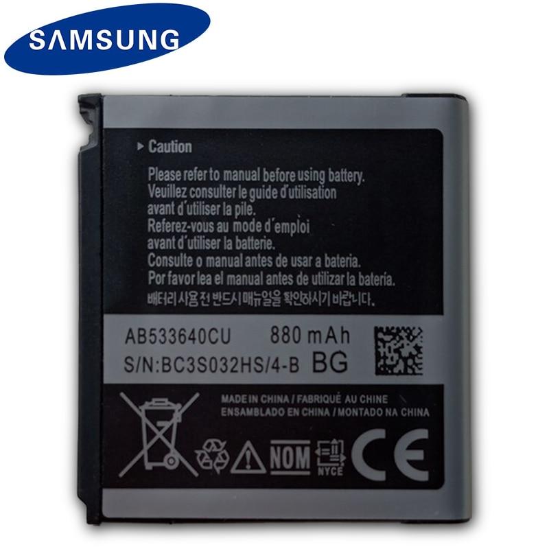 AB533640CC Original SAMSUNG Bateria de Substituição Para Samsung C3110 G400 G500 F469 F268 G600 G608 J638 F330 F338 GT-S3600i 880 mah