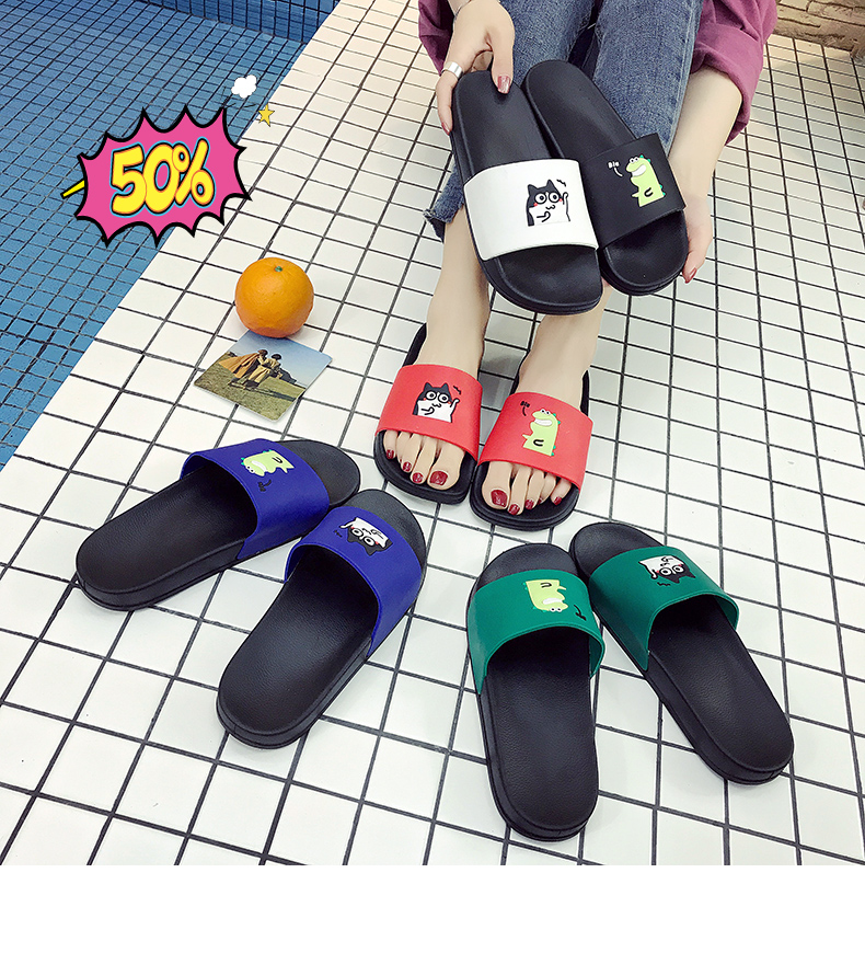 WHOHOLL Man Home Slippers Summer Sandals 2019 New Anti-skid Outside Wear Indoor Home Bathroom Bath Couple Cold Slippers Male 18