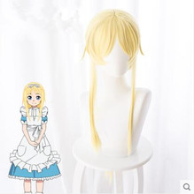 Sword Art Online Alice Synthesis Thirty Wig for Women Girls 95cm Long Straight Braided Synthetic Hair Wig Anime Cosplay Wig Gold цена 2017