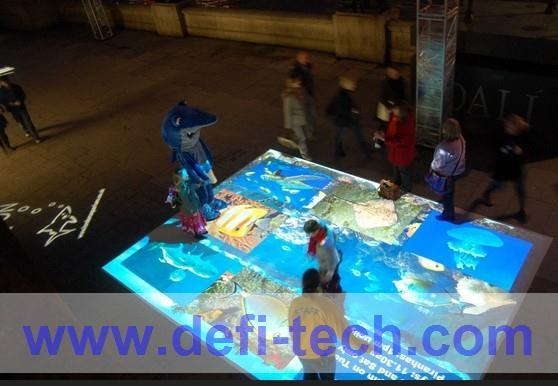 Hot selling Interactive floor software and 130 effects,The ability to expand,projector,projection shape