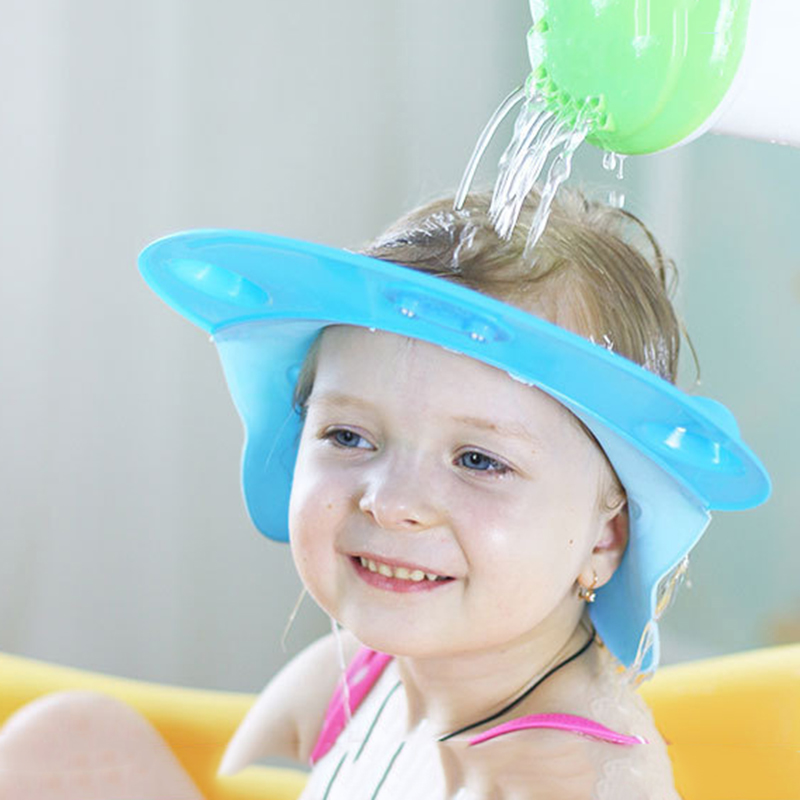Baby Lovely Adjustable Shampoo Hat Cute Seahorse Toddler Kids Shampoo Shield Visor Bathing Tub Cap Wash Hair Caps For Baby Care
