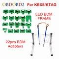 Лучший светодиодный BDM Рамка полный набор и 22 шт. BDM Адаптеры  используемые для Авто ECU чип Тюнинг инструмент KTAG K-TAG KESS Fg Tech V54 BDM100 Бесплатная до...