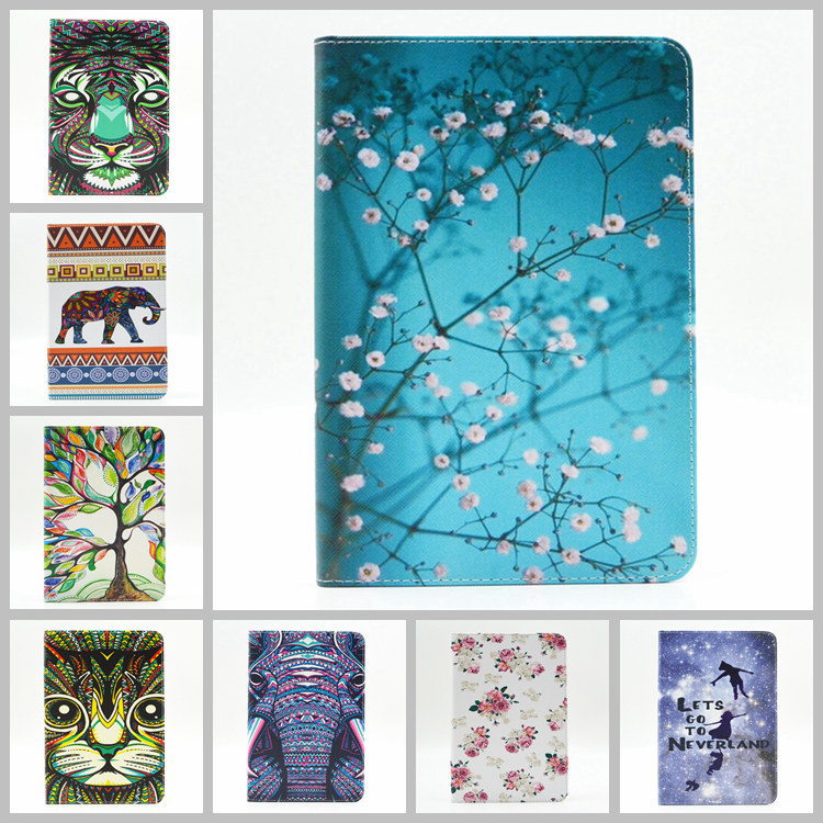 все цены на New Painted PU Leather Case With Card Slots For Apple iPad mini 4 Case Folio Stand Protector Skin Case For Apple iPad mini4 capa онлайн