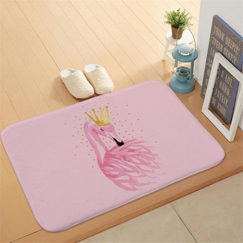 1pc Flamingo HD Printed Non-Slip Bath Mat Absorbent Waterproof Home Decor Flamingo Doormat Flamingo Party Supplies Wedding GiftS 2