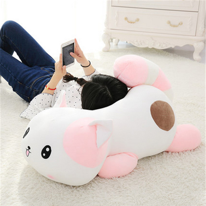 Fancytrader 80cm Big Plush Animal Raccoon Toy Stuffed Soft Cartoon Cat and Bear Pillow Doll Pink White Nice Gift fancytrader 150cm lovely plush soft cartoon rabbit toy stuffed giant 59 animal bunny nice lover gift