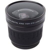 52mm 0 21X Wide Angle Fisheye Lens Bag For Canon Nikon D90 D7000 600D 550D 500D