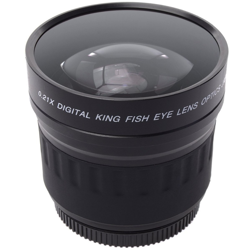 لنزهای Lightdow 52mm 0.21X Wide Angle Fisheye + کیف برای Nikon D7200 D7100 D5200 D5100 D5000 D3100 D90 D60 با لنزهای 18-55mm