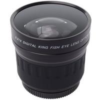 Lightdow 52mm 0.21X Wide Angle Fisheye Lens + Bag for Nikon D7200 D7100 D5200 D5100 D5000 D3100 D90 D60 with 18 55mm Lens