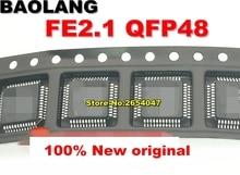 O envio gratuito de 10 pçs/lote USB2.0 HUB FE2.1 QFP48 chip de interface USB original novo
