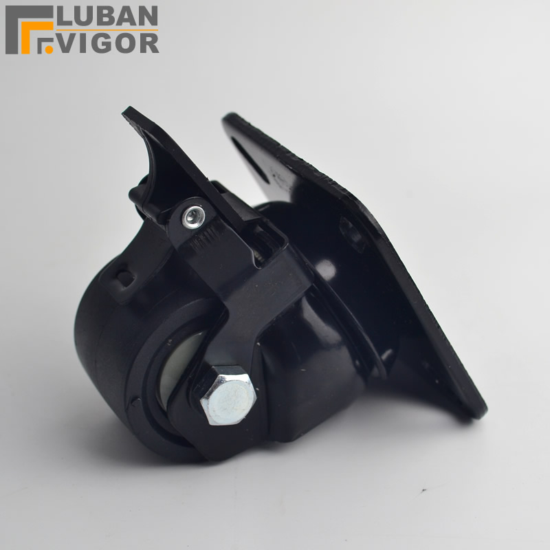 2 inch Low center of gravity High load-bearing casters /wheel,with brake, load 300kg, Shelf wheel,Pure nylon material,Casters