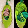 High Quality Knitted Hat For Newborn Baby Handmade Crochet Costume Infant Cute Photo Photography Prop Sets Sleeping Bag LB