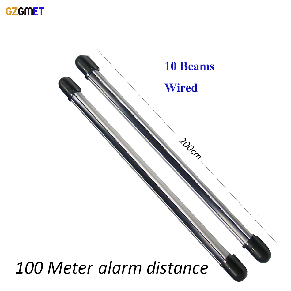 GZGMET 200cm Wired Infrared Beam Sensor Driveway Intruder Alarms fence security GSM Alarm Wired DetectorGZGMET 200cm Wired Infrared Beam Sensor Driveway Intruder Alarms fence security GSM Alarm Wired Detector