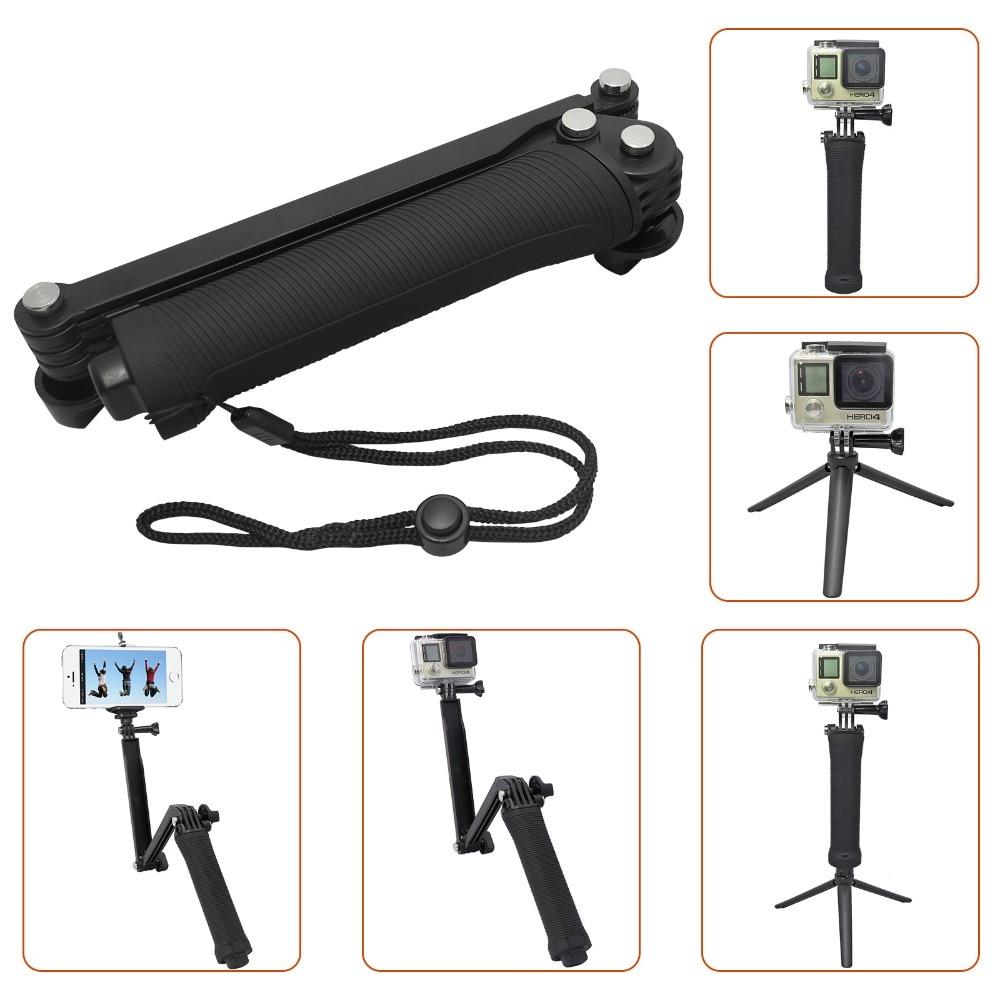 3-way Grip Stabilizer Mount with Tripod Adapter for GoPro HERO Cameras Gopro Hero 5/4/3+/3 and SJCAM SJ5000 Xiaoyi Camera