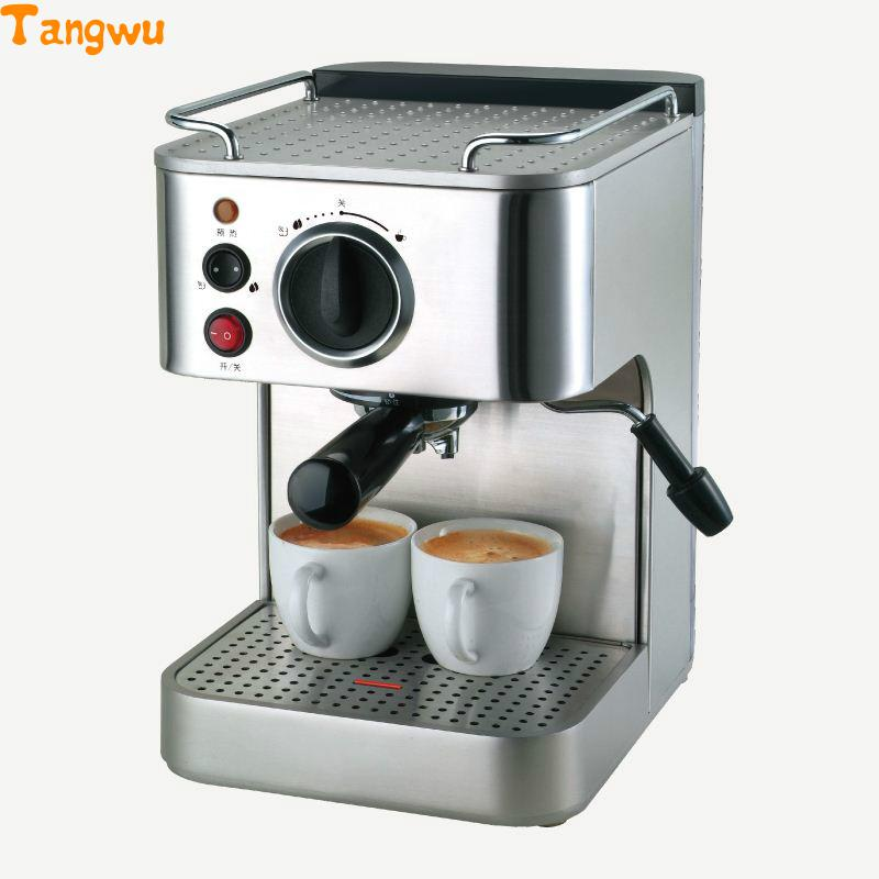 Free shipping Commercial steam cooking coffee pot for household full semi-automatic espresso machine Coffee machine free shipping the espresso machine use commercial semi automatic instant steam double charged coffee machine