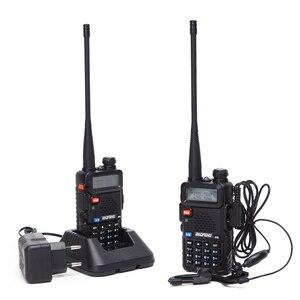 Image 2 - 1/2 adet BaoFeng UV 5R çift bant VHF/UHF136 174Mhz & 400 520Mhz Walkie Talkie iki yönlü radyo Baofeng el UV5R Ham taşınabilir radyo