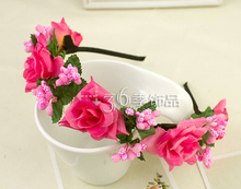NEW Free shipping KLJH30501 48pcs /lot 3 colors Silk Daisy&Orchid flower crown Hawaii Dancer Summer Beach Party