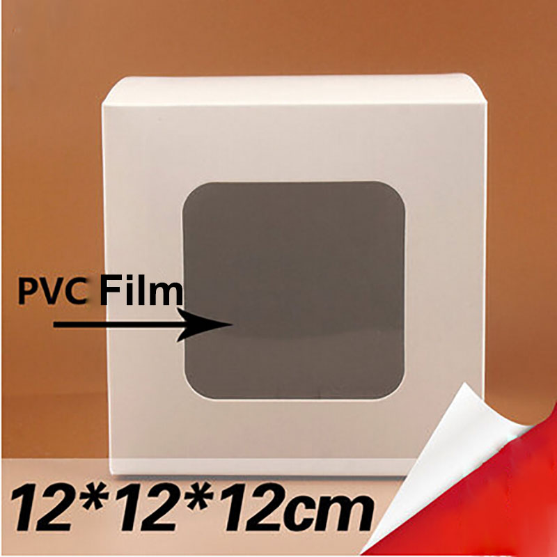 30pcs12*12*12cm White Window Box Packing Custom Gift Boxes /Candy/Soap/Fruit /cookie Display Packaging Display Box Free Shipping
