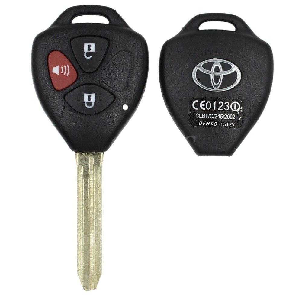 Remote 3 buttons key shell fob for toyota rav4 yaris venza matrix scion tc xa xb