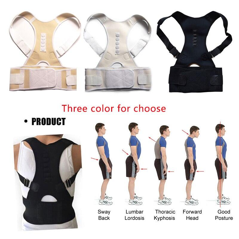 APTOCO 2 STÜCKE Hohe Qualität Magnet Körperhaltung Korrektor Unisex Erwachsene Einstellbar Männer Frauen Rücken Schulter Unterstützung Körperhaltung Korrektor