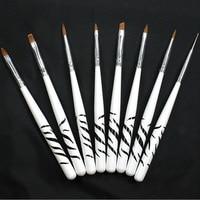 8 pcs/set Nail Art Design Brush Dotting Painting Pen Set Acrylic Drawing Liner Tools Nail Art Accessories