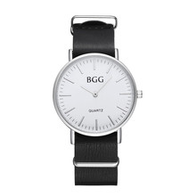 Fashion Men Leather Waterproof Analog Sport Quartz Wrist Watch   men watch gift  clock  Relojes de mujer dignity 9.1