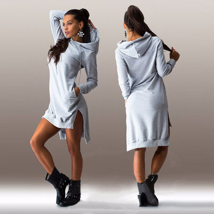 8feea4c2bb205 2019 New Arrival Winter Dress Cotton O-neck Long Sleeve Fashion Casual  Style Irregular Solid. US $15.99. (1). New 2017 Hot Sale Solid Women'S ...
