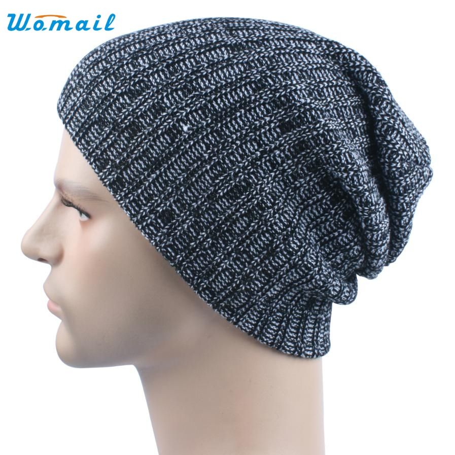Casual Men Baggy Warm Crochet Winter Knitted  Beanie Skull Slouchy Caps Hat Amazing New Arrival Big Sale winter hat casual unsex knitted hats for men baggy beanie hat crochet slouchy oversized caps warm skullies toucas gorros