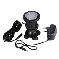 EU UK US AU Plug Aquarium Led Lighting Colorful Lamp With Landscaping Submersible Spotlights Garden Pond