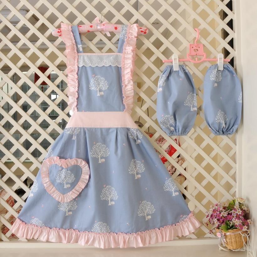 US $15.65 13% OFF|Cute retro kitchen cooking apron for woman waiter Florist  tea shop Manicure cute aprons cooking lady Kitchen Aprons-in Aprons from ...