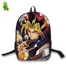 Anime Yu Gi Oh Backpack for Teenage Girls Boys Book Bag Yugi/ATEM/Kaiba Women Men Laptop Travel Backpack Children School Bags(China)