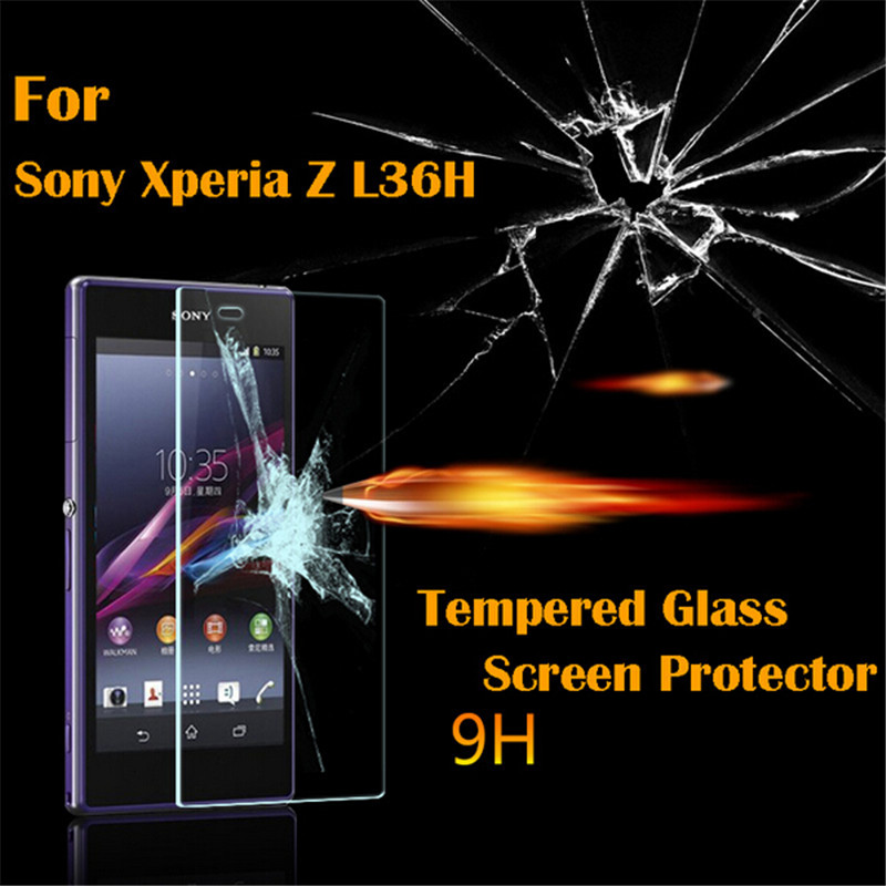 Premium Tempered <font><b>Glass</b></font> For <font><b>Sony</b></font> <font><b>Xperia</b></font> <font><b>Z</b></font> L36H C660x <font><b>C6603</b></font> C6602 <font><b>Screen</b></font> Protector 9H Protective Film Guard image