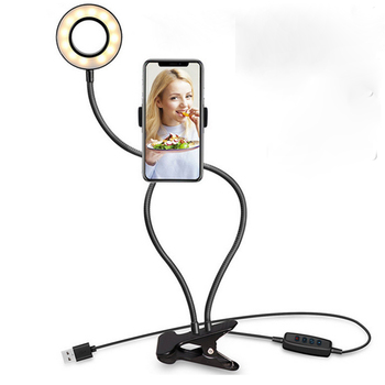 Photo Studio Selfie LED Ring Light with Cell Phone Mobile Holder for Youtube Live Steam Makeup Camera Lamp for iPhone Android