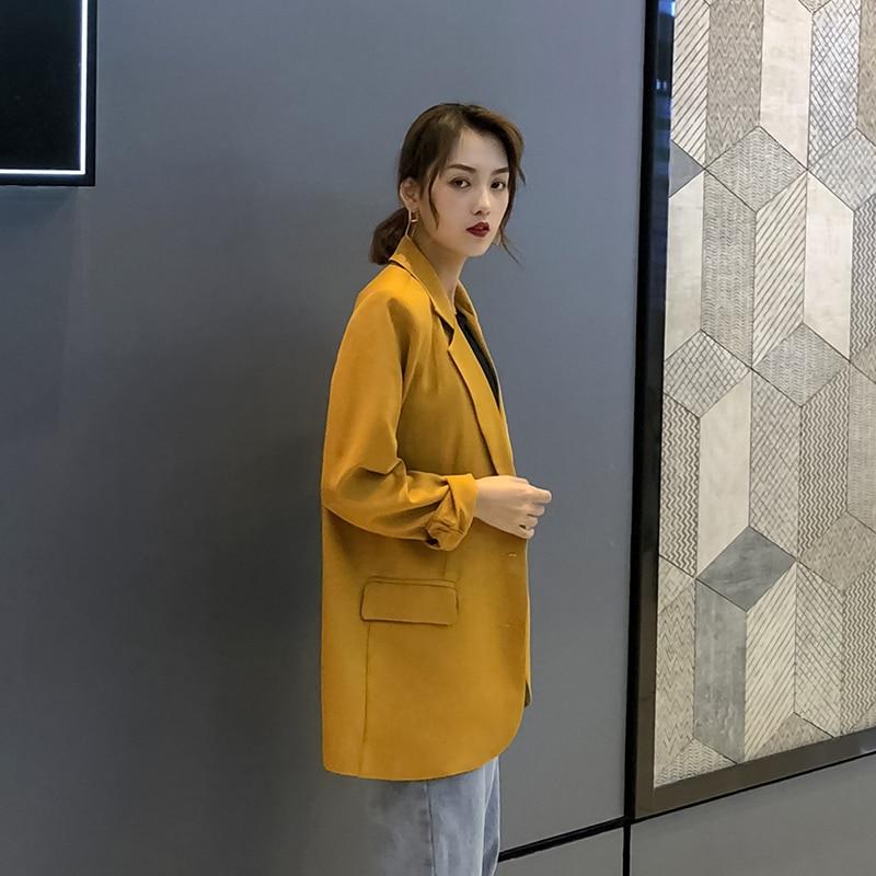 Female Long Suit jacket Office Lady Business Women Blazers Spring Autumn Women's Blazer casual loose Suit Oversize Outwear