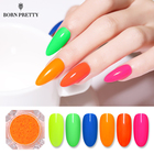Fluorescent Nail Pigment Neon Phosphor Powder 2g Summer Glitter Powder Dust Manicure Nail Art Decorations