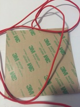 Silicone heating pad heater 230V 500W 280mmx380mm for 3d printer heat bed flexible heater silicone heating pad